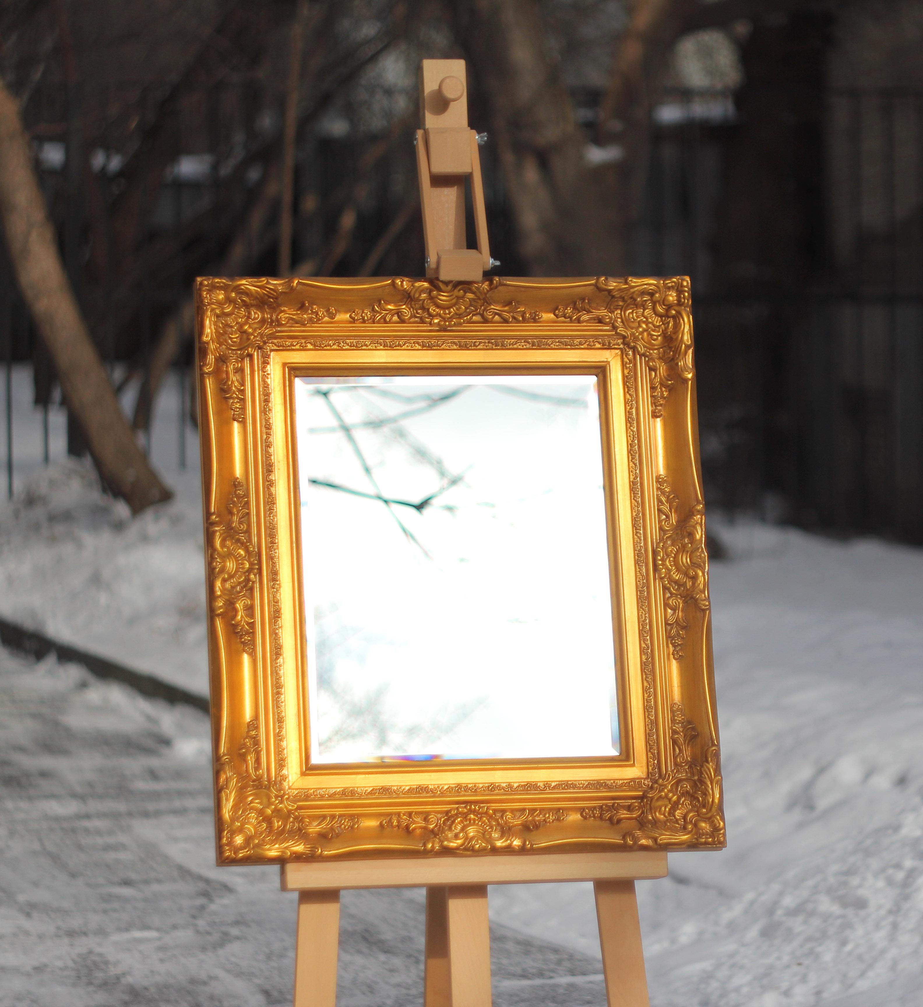 Винтажный пластиковый багет для зеркала