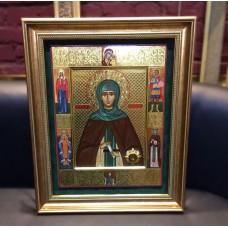 Икона оформленная в деревянный багет, оклад