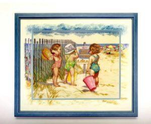 Дорисовка по паспарту для вышивки «Дети»