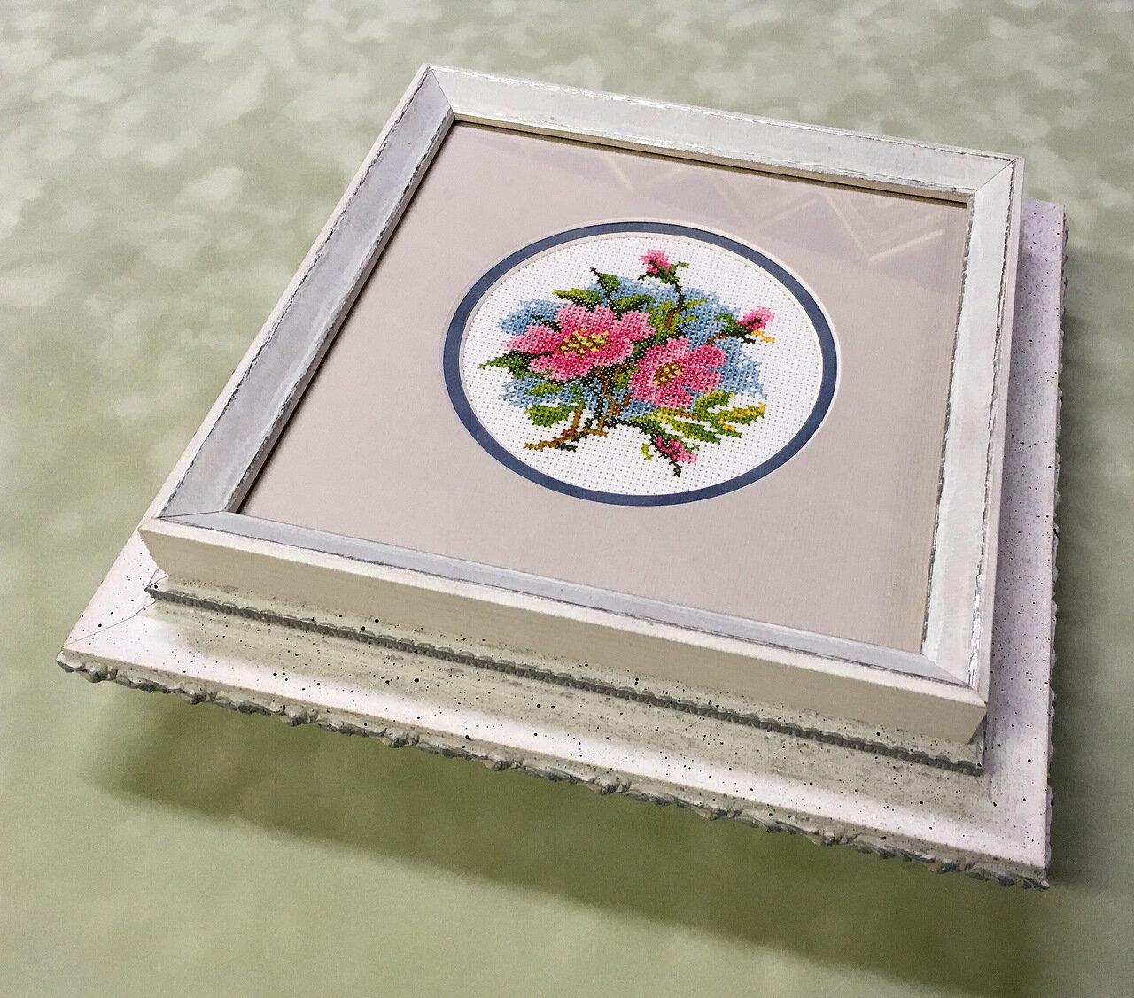 Шкатулка под заказ с вышивкой «Цветы»
